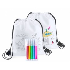 Backys Colouring Drawstring Bag