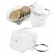 Peggy Piggy Bank With Keyring