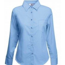 Lady-Fit Long Sleeve Poplin Shirt