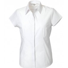 Ladies Short Sleeve Poplin Fitted Shirt
